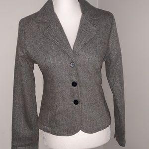 Andrew and Co gray womens buttondown blazer